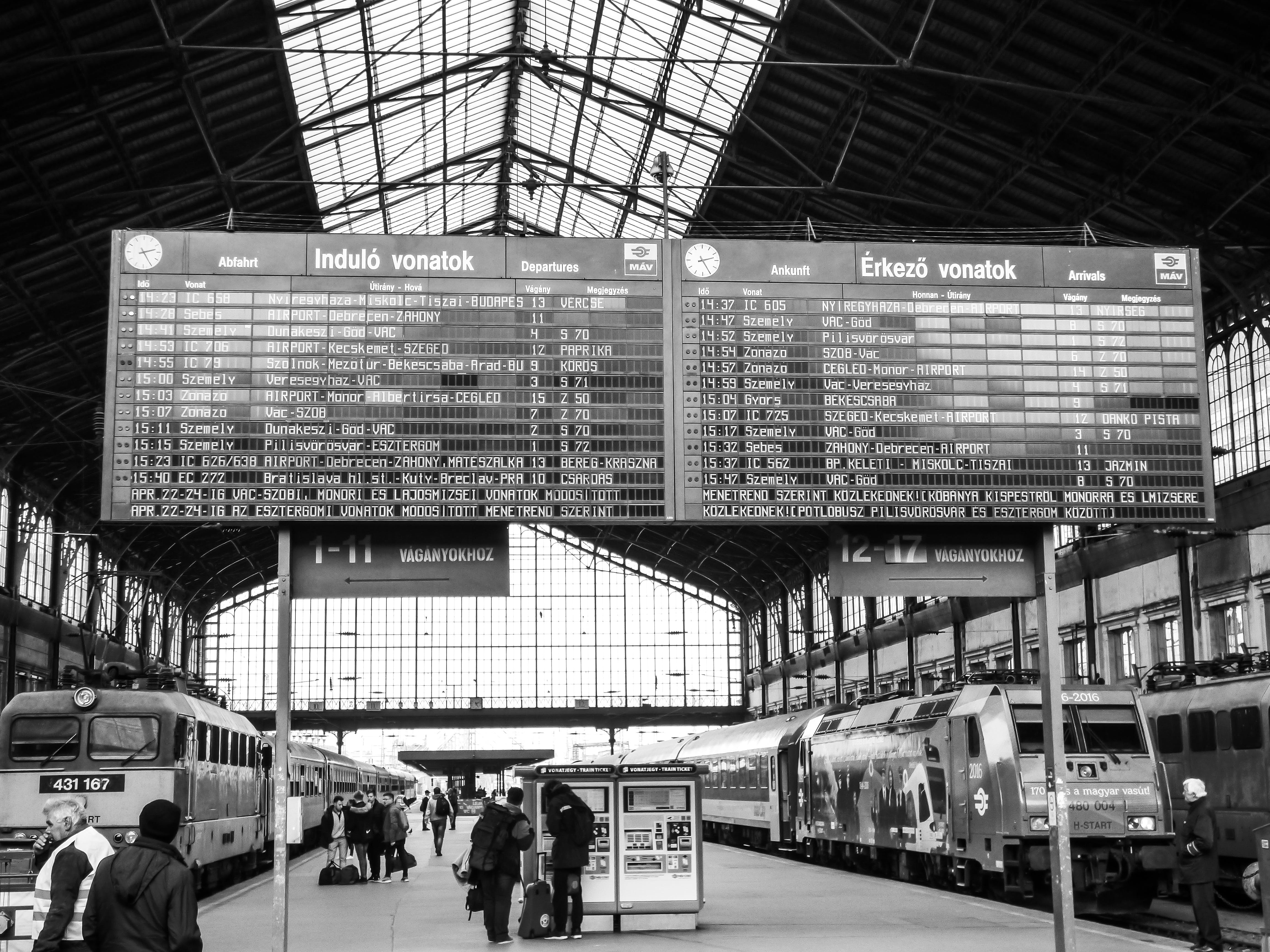 Train Station Signage