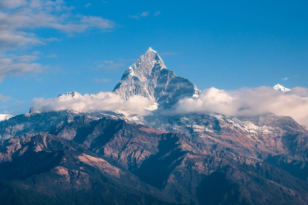 Mountain peak.