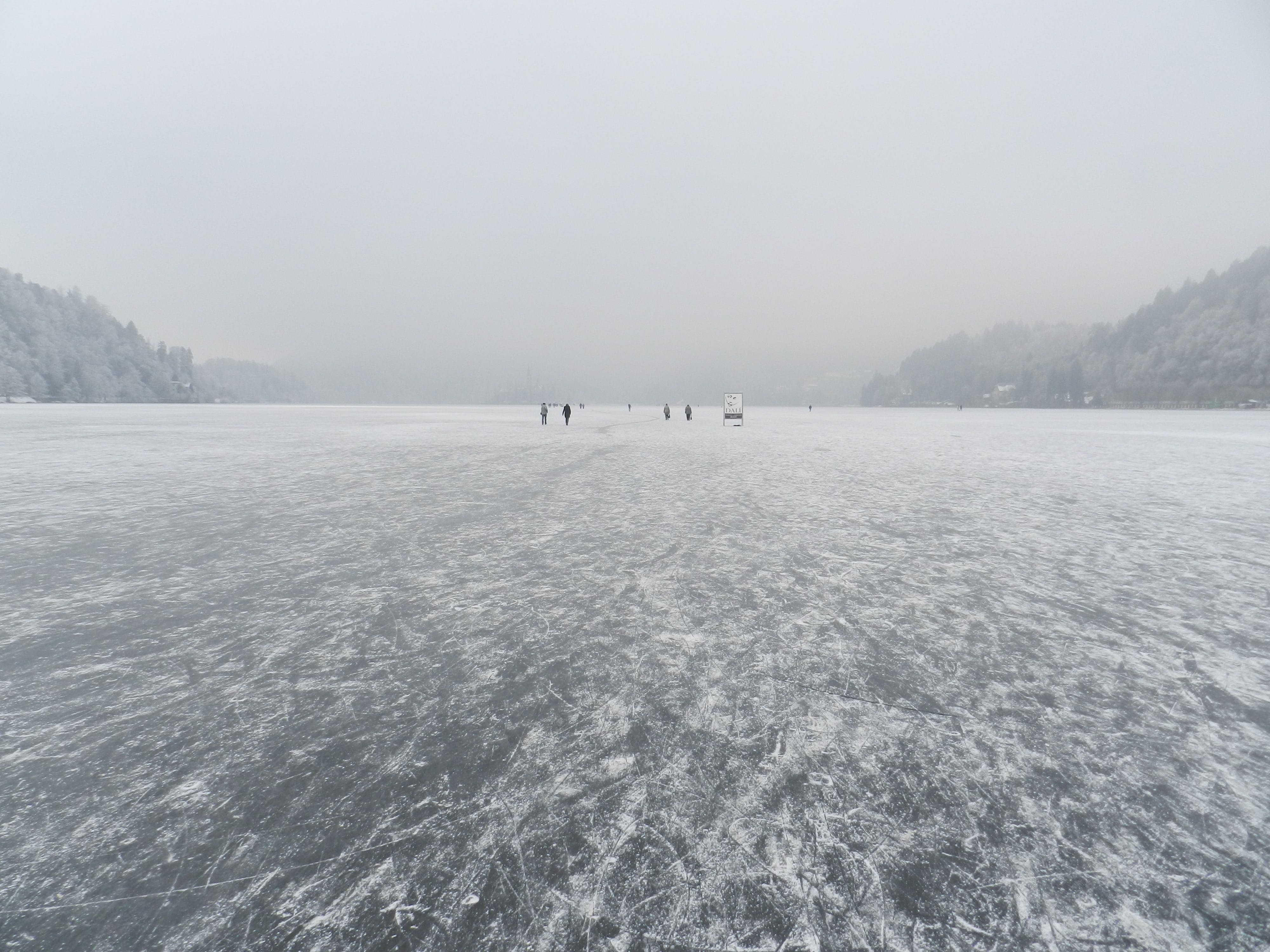 People Standing on Icerberg