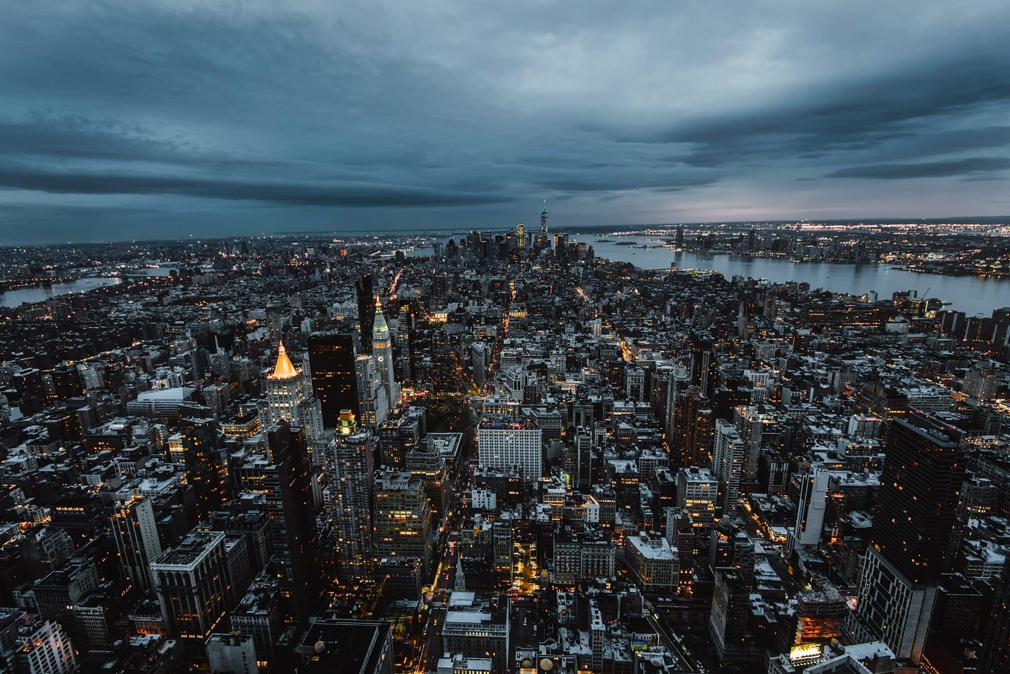 Free stock photo of city, sky, weather, skyline