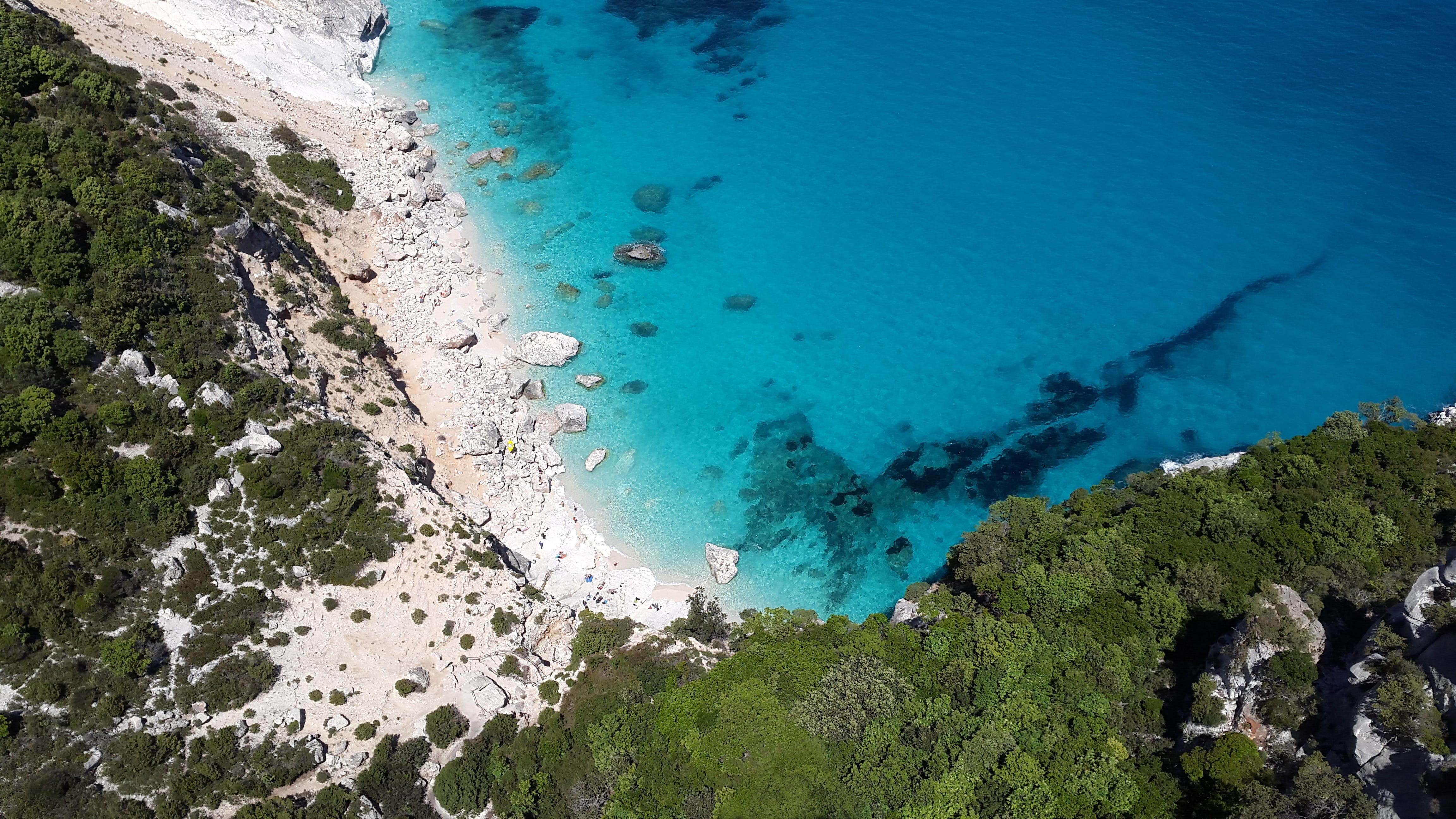 Aerial Photography of Sea Water and Cliff