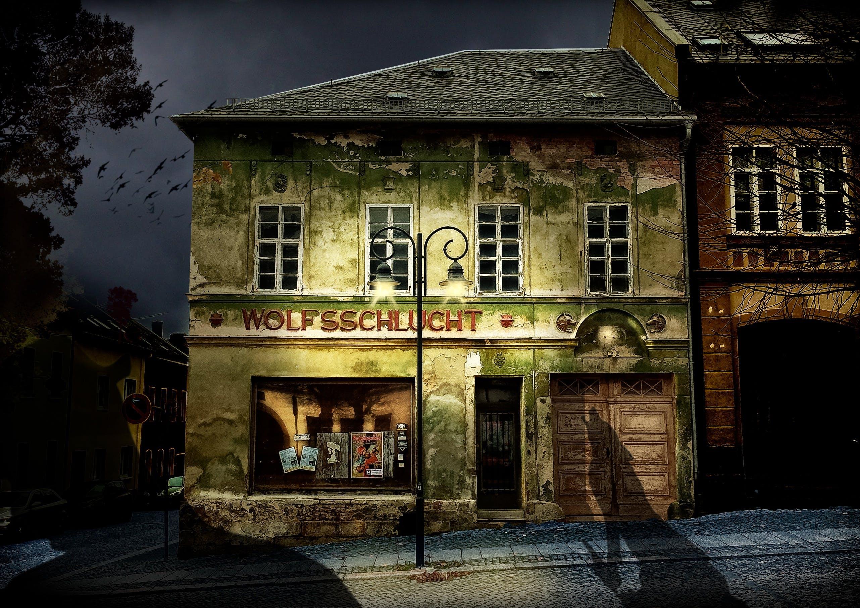 Free stock photo of city, night, shadow, horror