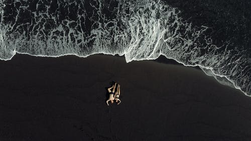 copy space, 검은 모래, 고요한, 공중의 무료 스톡 사진