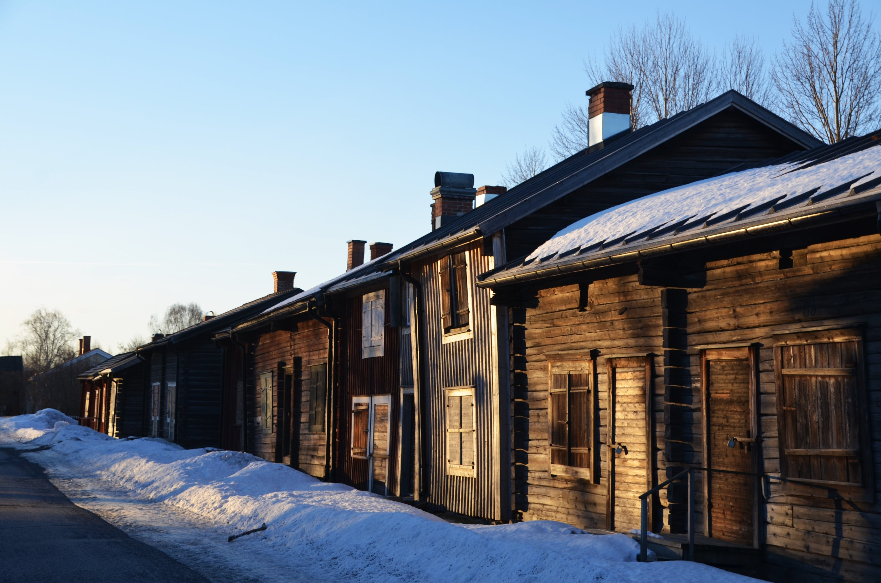 Brown Wooden House Near Snow