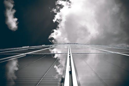 Immagine gratuita di architettura, architettura moderna, bianco e nero, bicchiere