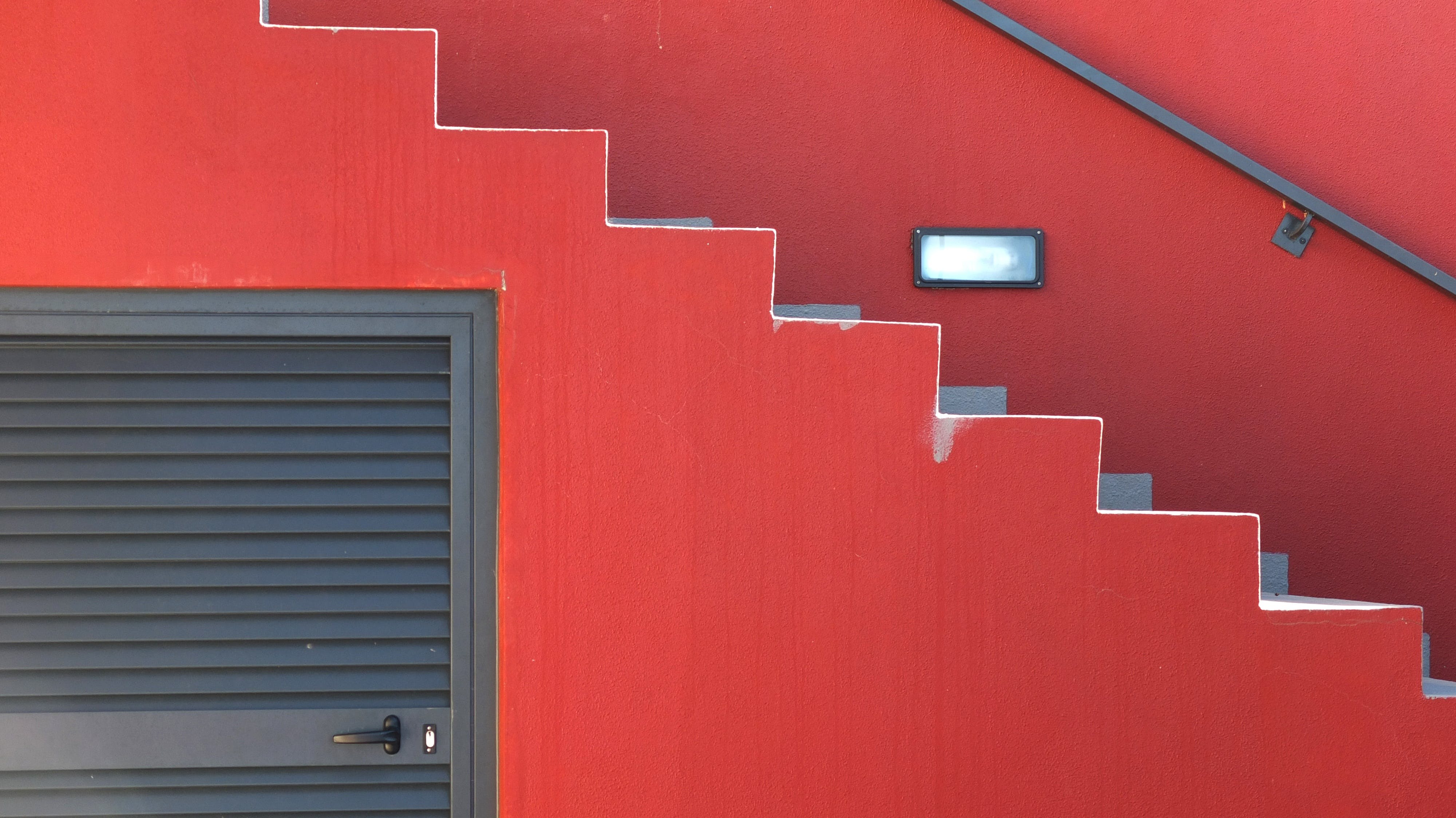 Free stock photo of red, steps, architecture, modern