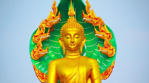 Gold plated statue of Buddha