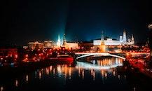city, sky, lights