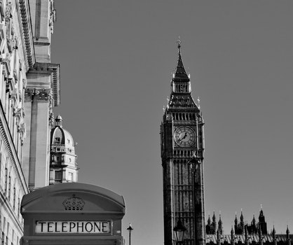Free stock photo of black-and-white, city, sky, landmark