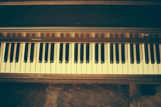 Free stock photo of vintage, piano, keyboard, keys