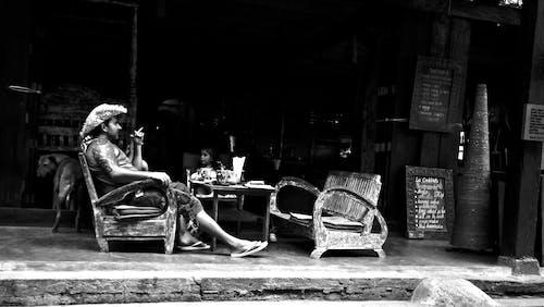 Free stock photo of bar, black and white, bophut