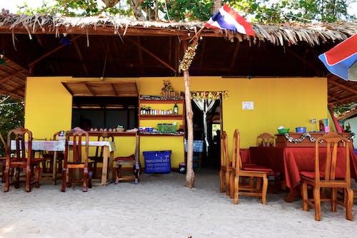 Free stock photo of beach, beach cafe, café