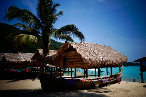 Free stock photo of hut, island, moken