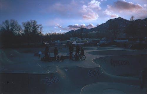 Free stock photo of 35mm, bike, bike park, blouds