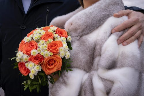 Orange and White Flower Bouquet