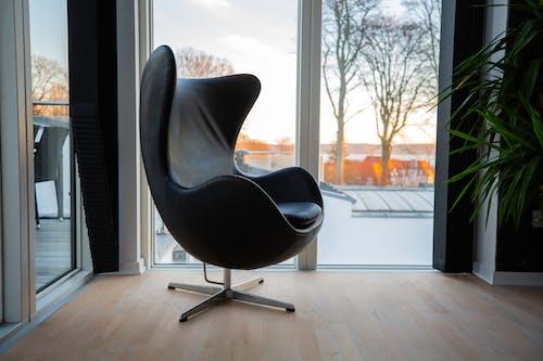 Comfortable armchair near big window