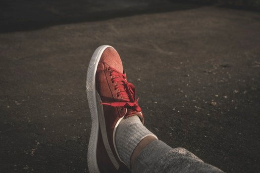 Free stock photo of fashion, person, foot, pavement