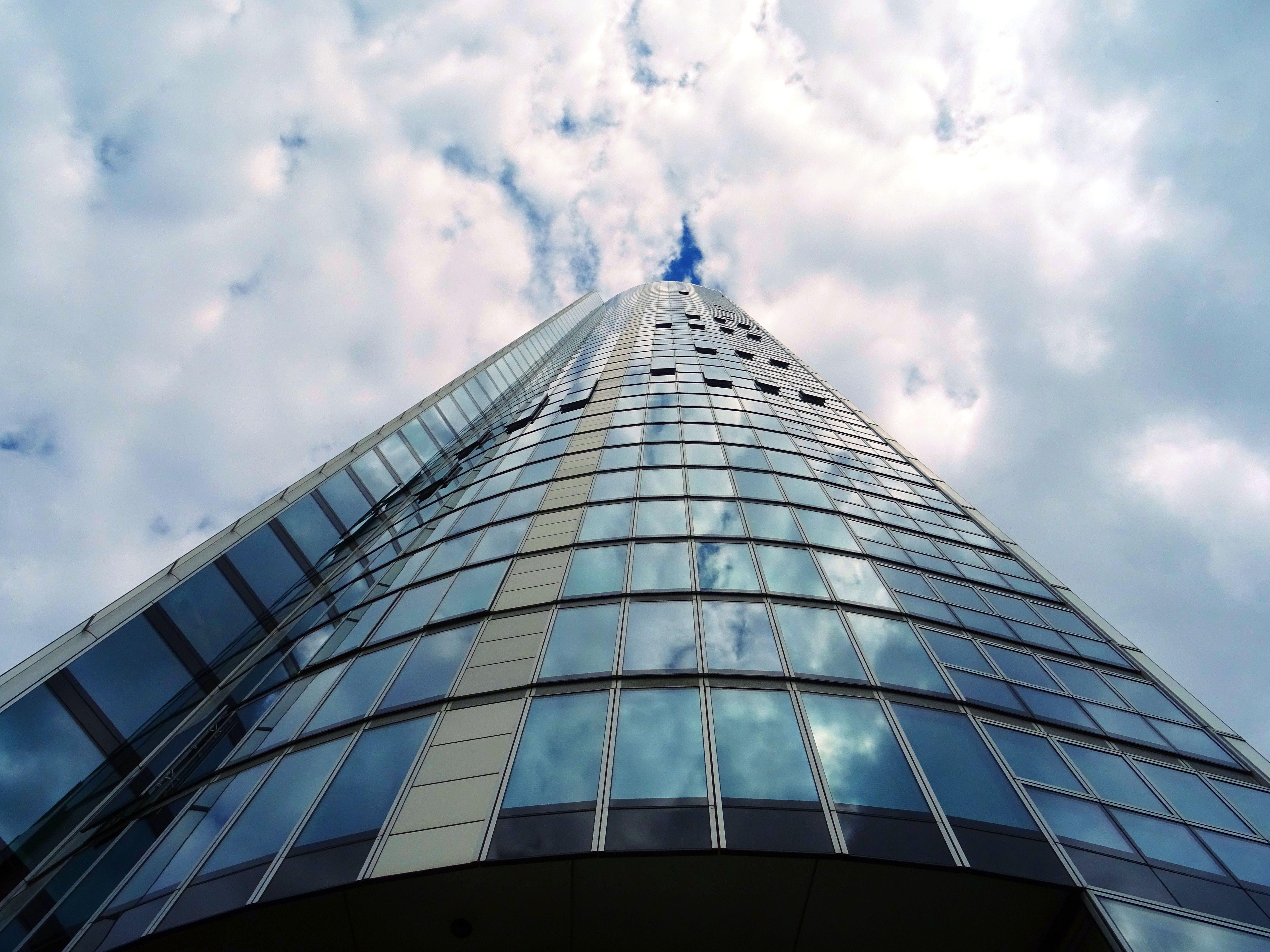 Blue Glass Panel Building