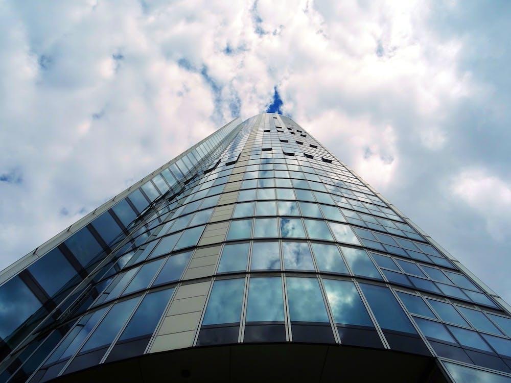 acero, alto, arquitectura