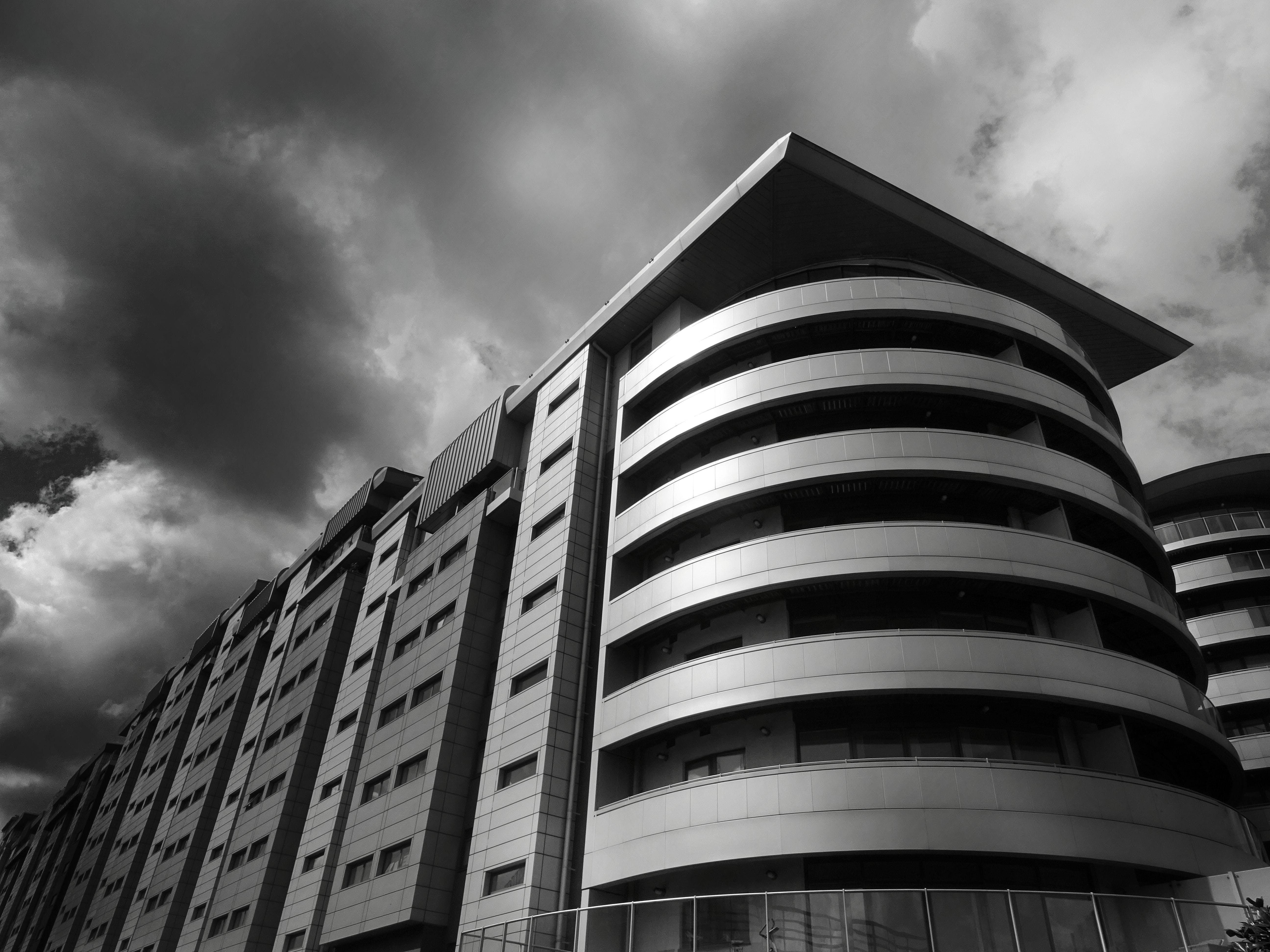 architecture, black-and-white, building