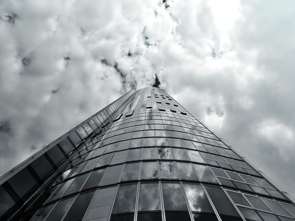 architektúra, budova, čierna a biela