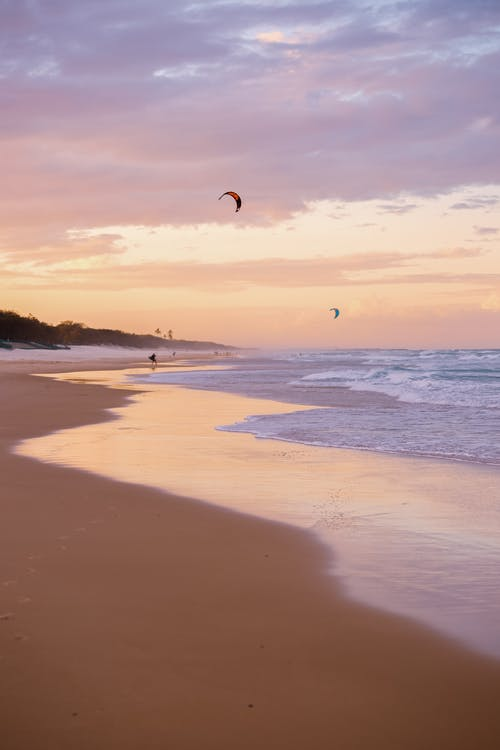 Free stock photo of australia, beautiful sky, Gold Coast, kite board