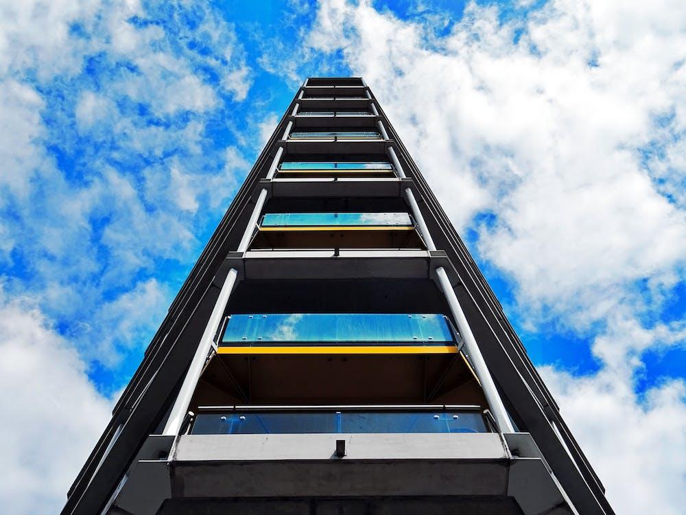 arkitektonisk design, arkitektur, blå himmel