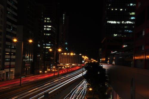 Free stock photo of car lights, city background, city light