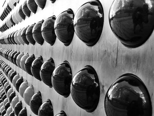 Foto stok gratis barisan, hitam dan putih