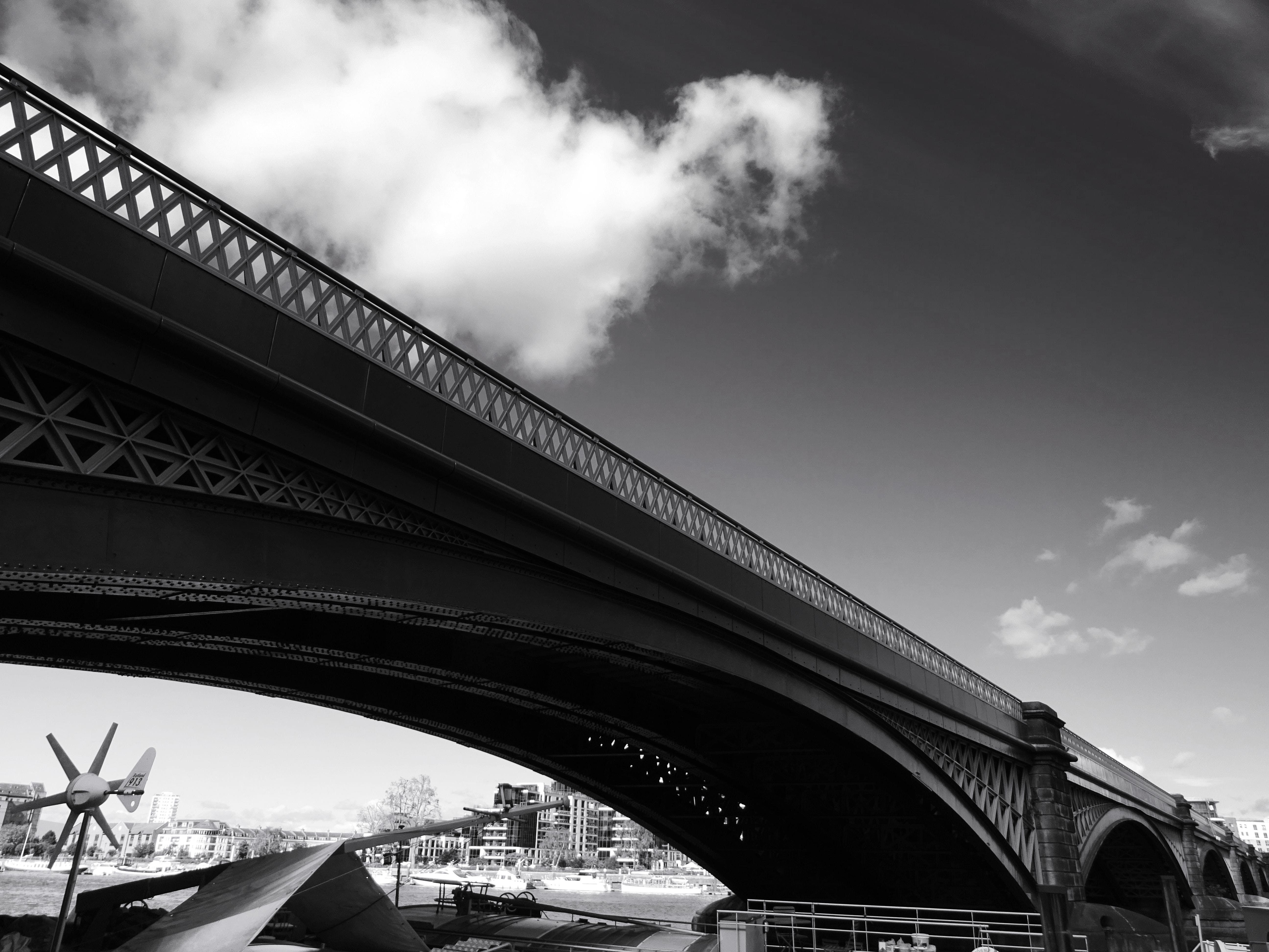 Grayscale of Bridge