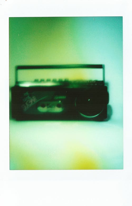 Black Sony Cassette Tape on White Table
