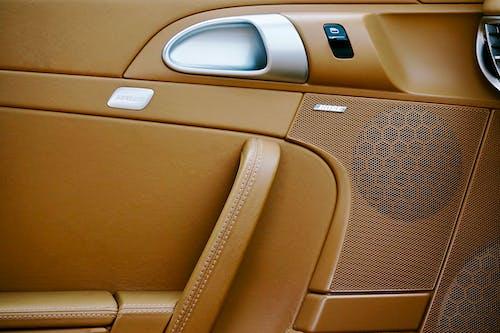 Brown and Gray Car Seat