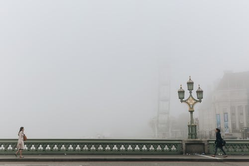 View Of A Bridge On A Foggy Day