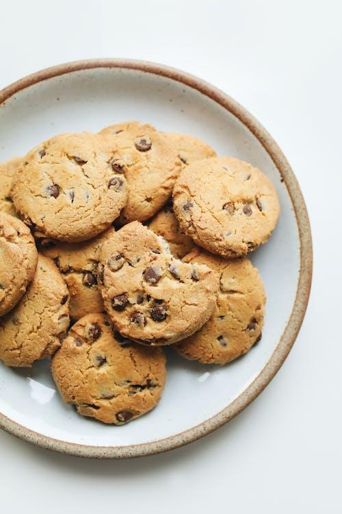 Cookies on White Ceramic Bowl