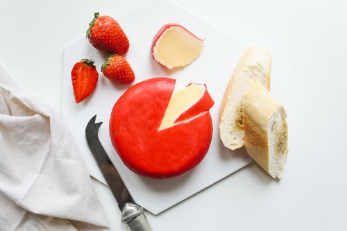 Sliced Bread With Strawberry on Plate