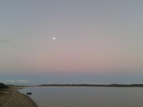 Free stock photo of coastal, fullmoon, sea