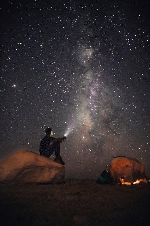 Gratis lagerfoto af astrologi, astronomi, bål, camping