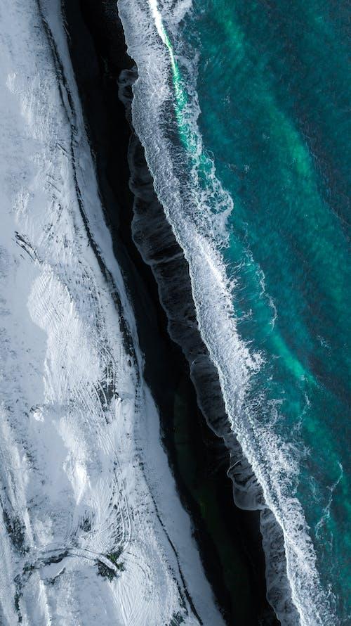 Immagine gratuita di aereo, altezza, ambiente, bagnasciuga