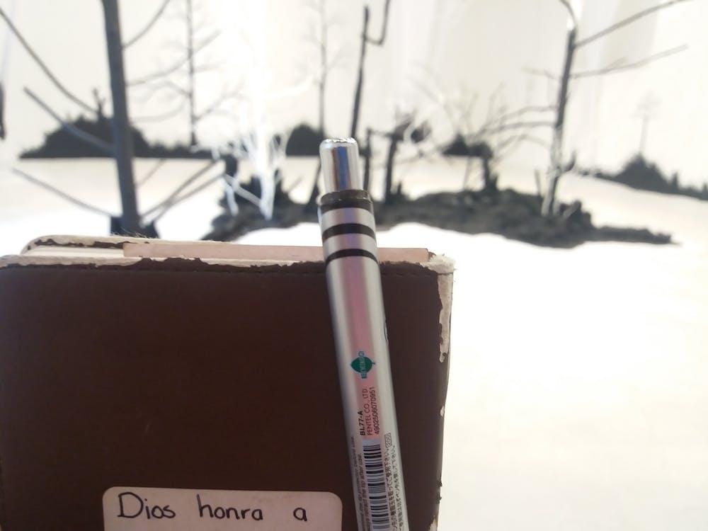árvores, escrevendo, escrita