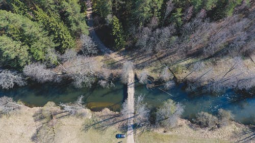 Free stock photo of beauty in nature, big river, drone camera