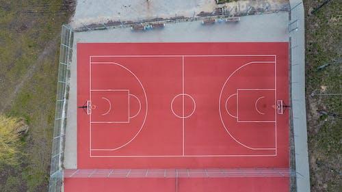Free stock photo of basketball, basketball court, drone camera