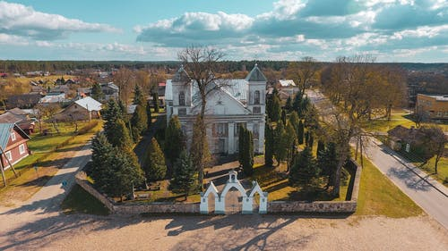 Free stock photo of church, drone camera, drone controller