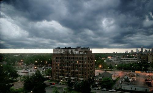Free stock photo of City Buildings Indianapolis Clouds Storm