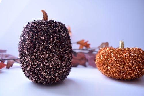 Free stock photo of glitter, pumpkins, sparkle, white background