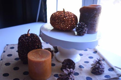Free stock photo of candles, polka dots, pumpkins