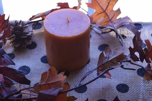 Free stock photo of candle, polka dot