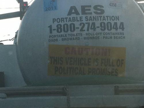 Free stock photo of political promises, sanitation truck