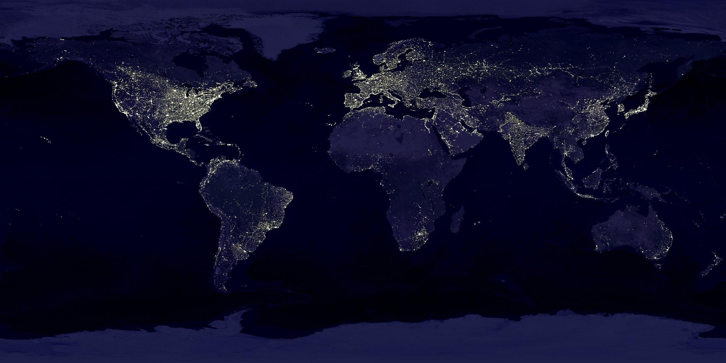 Kostenloses Foto zum Thema: beleuchtung, erde, lichter
