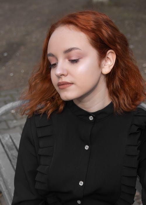 女孩, 年輕女孩, 紅發, 肖像 的 免費圖庫相片