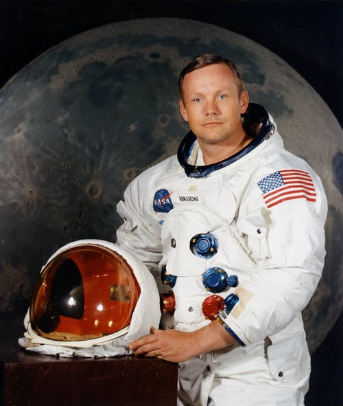 Man Wearing Astronaut Suit
